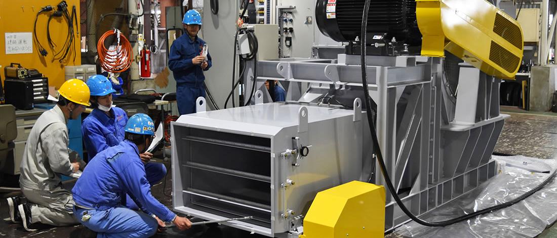 環境型・実車試験(シャシダイナモメータ)用の車両冷却ファン